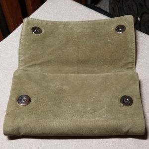 Other - Suede Embellished Jewelry Travel Pouch